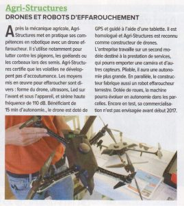 agristructures drone france agricole